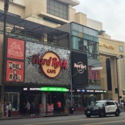 Hard Rock Cafe on Hollywood Blvd